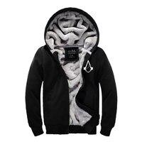 2017New Autumn Winter Fashion Warm Hoodies Thick Mens Coats Plus Size Zipper Cotton Dress Thickening