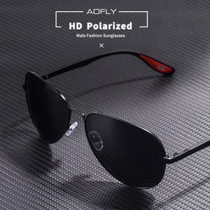 Image 2 - AOFLY 브랜드 디자인 클래식 편광 선글라스 남자 여자 운전 파일럿 프레임 태양 안경 남성 고글 UV400 Gafas 드 솔 AF8186