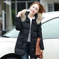 New arrival women winter coats 5 colors long section hooded thicken fur collar slim jackets warm korean version fashion coats