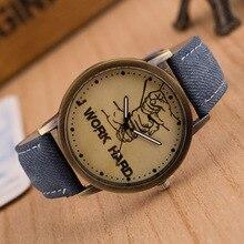 Cindiry Brand Vintage Watch Women's Quartz Watch Simple Women Canvas Strap Wristwatches Casual Fashion Female Clock Reloj Mujer