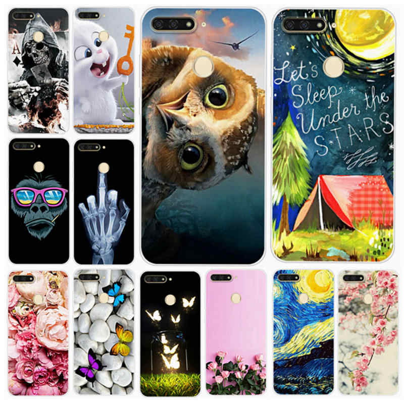 For Huawei honor 7c 5.7 Case Silicone Honor7c Back Cover Soft TPU Phone Cover Aum-L41 Coque Russua Honor 7c Aum L41Case ky104