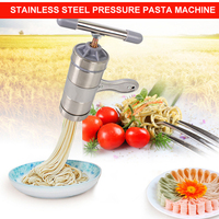 4YANG Stainless Steel Noodle Maker With 5 Models Manual Noodles Press Pasta Machine Kitchen Tools