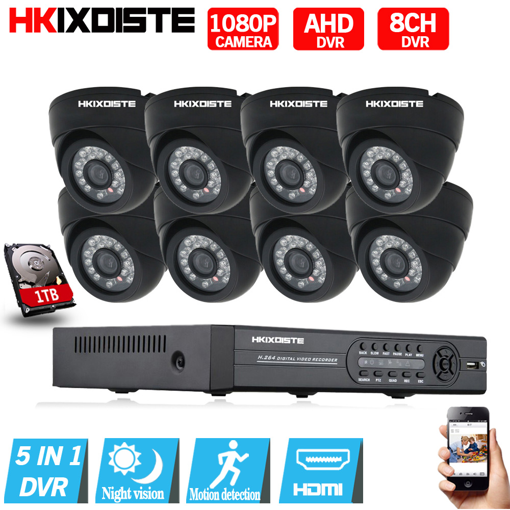 8CH 1080P HDMI DVR 1080P HD indoor home hotel Security Camera System 8 Channel CCTV Surveillance DVR Kit AHD 2.0MP Camera Set new original 516 300 s242 s4 d warranty for two year