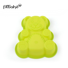 Filbake Cute Bear Cake Mold DIY Silicone Mould Creative Baking Tools High Temperature Accessories Pan Cup