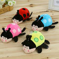 Comercio al por mayor de 16 cm 4 colores juguetes de peluche mariquita 1 unidades de Bombeo bebé juguetes niños muñeca animales de peluche muñeca de Insectos