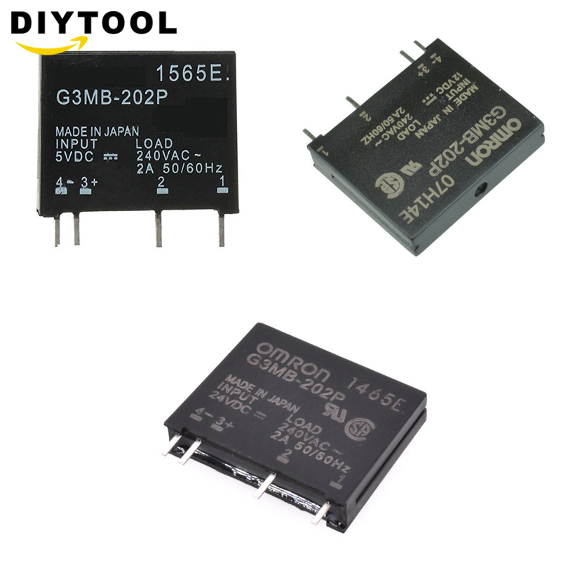 Relay Module G3MB-202P G3MB 202P DC-AC PCB SSR In 5V 12V 14VDC Out 240V AC 2A Solid State Relay Module