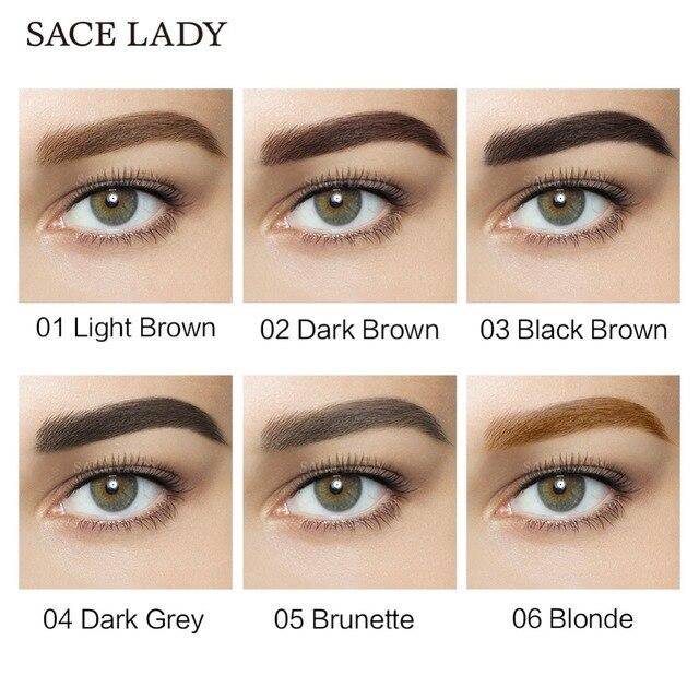 SACE LADY Waterproof Eyebrow Gel Makeup Henna Shade For Eye Brow Tint Natural Enhancer Make Up Cream Long Lasting Brand Cosmetic 2