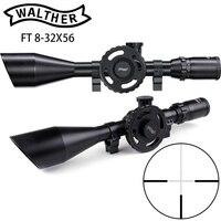 WALTHER FT 8 32X56 охотничьи Riflescopes Mil Dot сетка большое боковое колесо Parallax Регулировка область съемки с кольцами ласточкин хвост