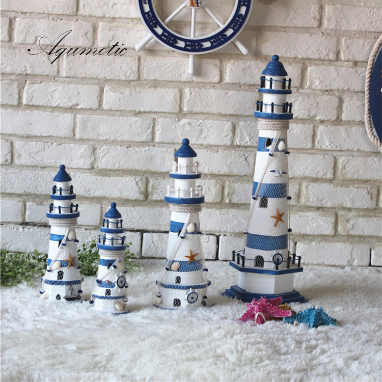 Ағаш маяк декорациясы Үйге арналған - Үйдің декоры - фото 2