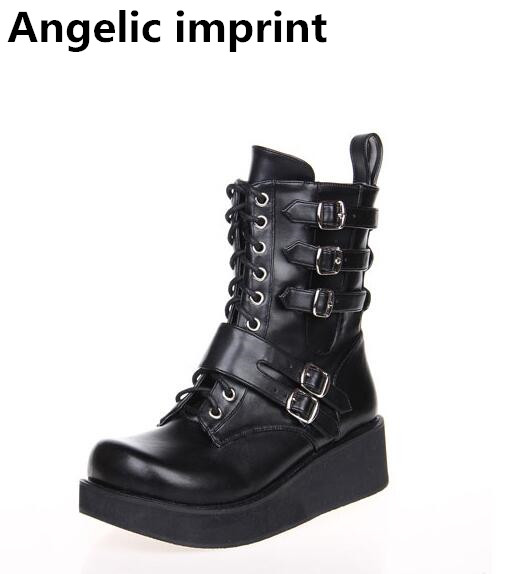 1e5ad5537c262 Angéliques mentions légales mori fille Femmes cosplay punk moto bottes lady  lolita cheville court Bottes femme haute bagatelle talon pompes chaussures  dans ...