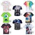Alta qualidade menino adolescente-personalidade 3d tridimensional padrão de impressão de manga curta t-shirt meninos roupas T-shirt 14-20 anos