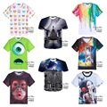 High-quality teenage boy short-sleeved 3d personality three-dimensional pattern printing t-shirt boys clothes T-shirt 14-20 year
