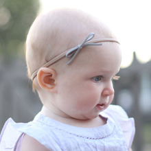 Nylon Headband Hair-Accessories Toddler Baby-Girls Elastic Infant Fashion New Suede Solid-Bow