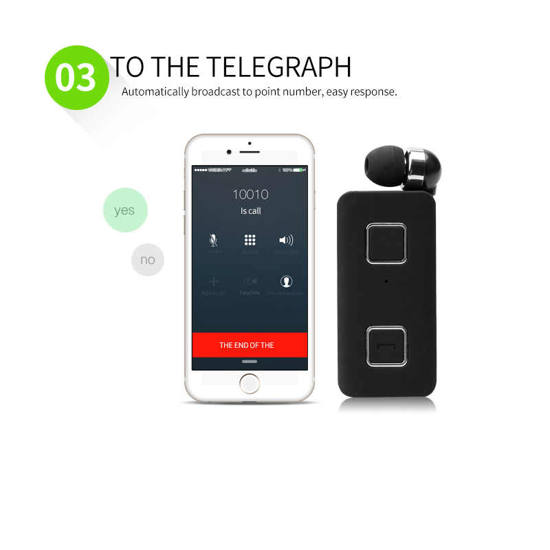 Call Vibration Sport Stereo Mini Clip on Bluetooth Headset Wireless bluetooth handsfree clip Earphone Headphone Clamp Collar