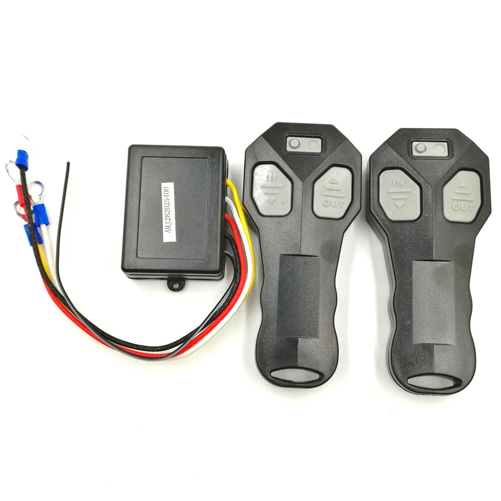 Universal Car Wireless Winch Remote Control With Twin Handset Two Matched Transmitters title=