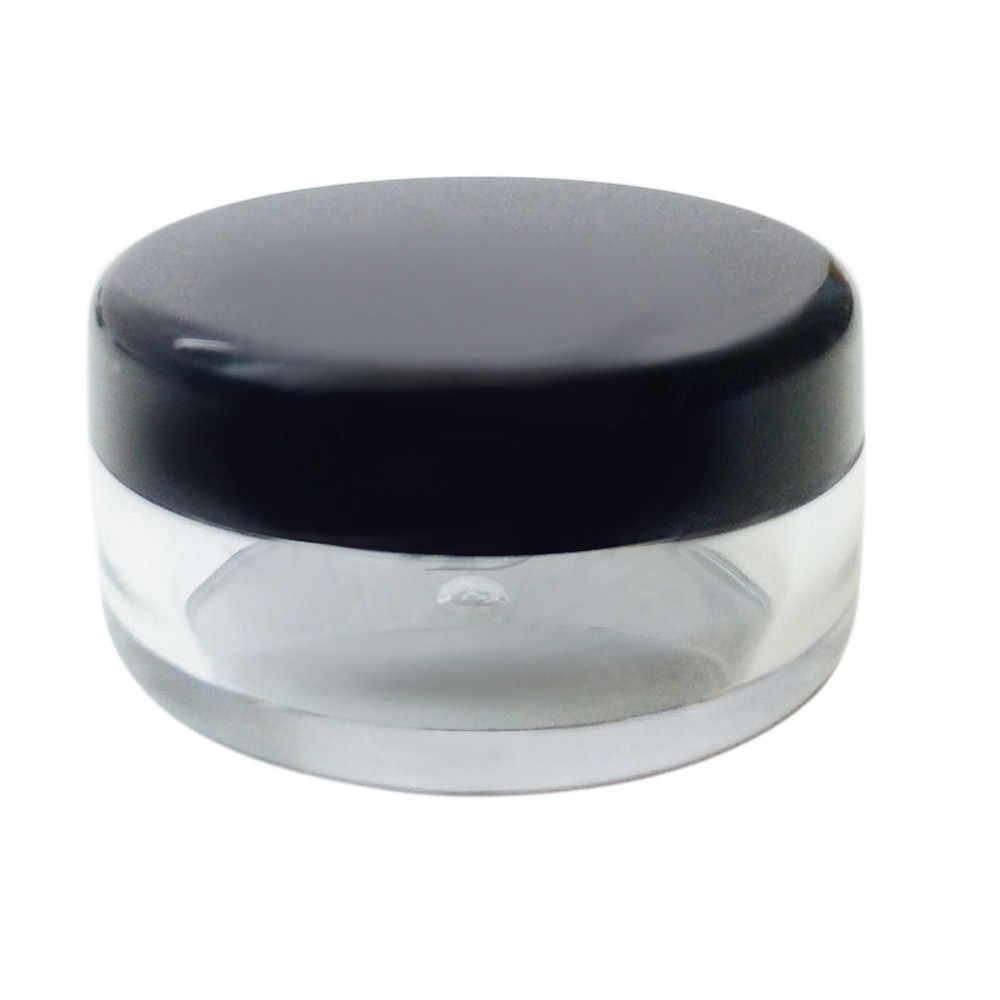 Makeup Tool Cover 50Pcs 5g White Clear Cosmetic Empty Jar Pot Eyeshadow Makeup Cream Lip Balm Polystyrene Simple Jan28