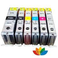 COAAP Compatible canon Pixma MG6850 MG6851 MG6852 MG6853 cartucho de tinta de impresora pgi570 BK CLI571 BK/C/M/ y/GY 6 piezas