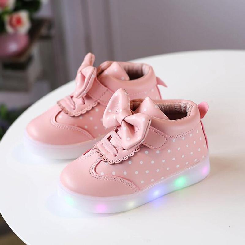 9 colors Children LED shoes boys girls