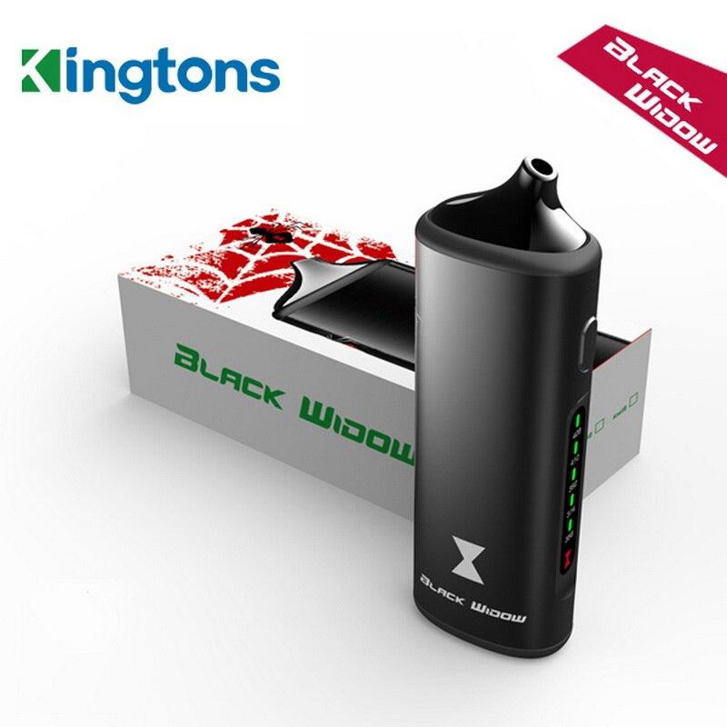Original kingtons pflanzliche vaporizer Black Widow dampfkasten mod vaporizador trocken vape trockenen kraut vaporizer kräuter e zigaretten