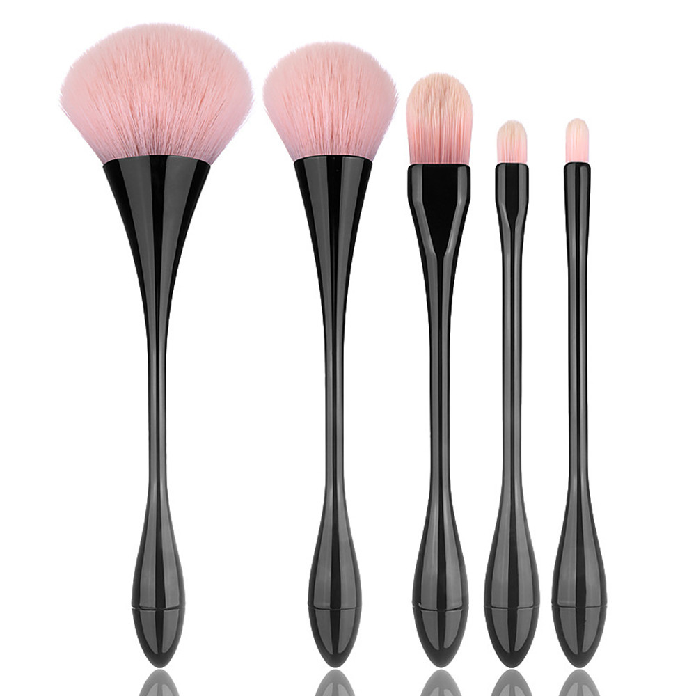 New Arrival Women 5PCS Makeup Brushes Set Foundation Eyebrow Eyeliner Blush Cosmetic Concealer Brush Fashion maquiagem 8.25 7pcs makeup brushes professional fashion mermaid makeup brush synthetic hair eyebrow eyeliner blush cosmetic