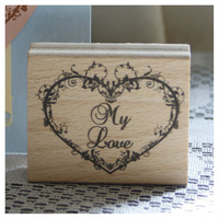 My Love Rubber Wooden Stamps For Scrapbooking Carimbo Postcard Or Bookmark Scrapbooking Stamp 6 5cm Stempel