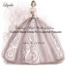 Liyuke A-Line Wedding Dress With Long Sleeves Court Train