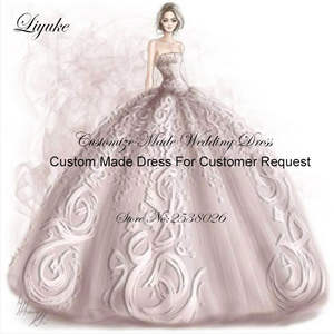 Liyuke Wedding-Dress Long-Sleeves of with Please Contact US Before Buying Link Custom-Made