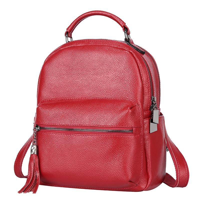 En Qualité Noir À École Veau Première Dos Femmes Cuir Haute Sacs De Sac rouge Glands Noir Couche Pour Rouge Casual Shopping qf8wBZ