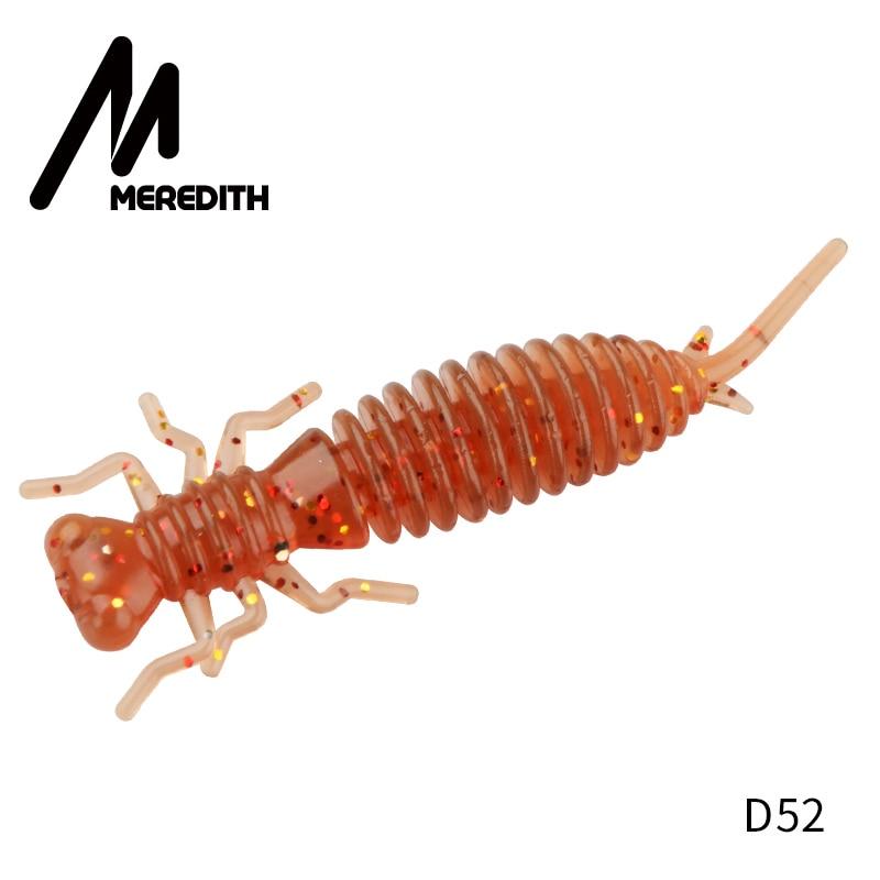 Мягкие приманки MEREDITH Larva, 50 мм, 62 мм, 85 мм, искусственные приманки, силиконовая приманка для ловли червя, приманка для ловли щуки, гольян, плавающая приманка, пластиковые приманки - Цвет: D52