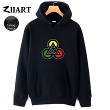 Poker Club Egypt Pyramids Jamaica Reggae Red Yellow Green Triangle Circle Autumn Winter Fleece Man Boys Hoodies ZIIART