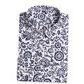 Dioufond novo ocasional floral impressão camisas das senhoras das mulheres camisas de algodão do vintage turn-down collar femininas mulheres encabeça 2017 moda