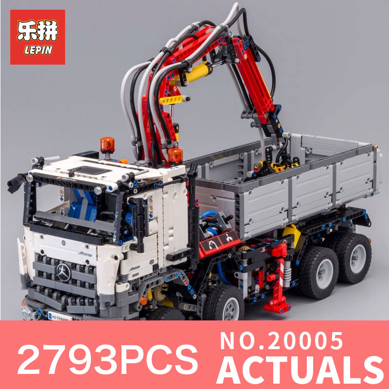 LEPIN 20005 Technic series 2793pcs Arocs truck Model Building blocks Bricks Classic toy Compatible with 42043 for Boys Gifts lepin technic series building bricks 20005 2793pcs arocs truck model building kits blocks compatible 42043 boys toys gift