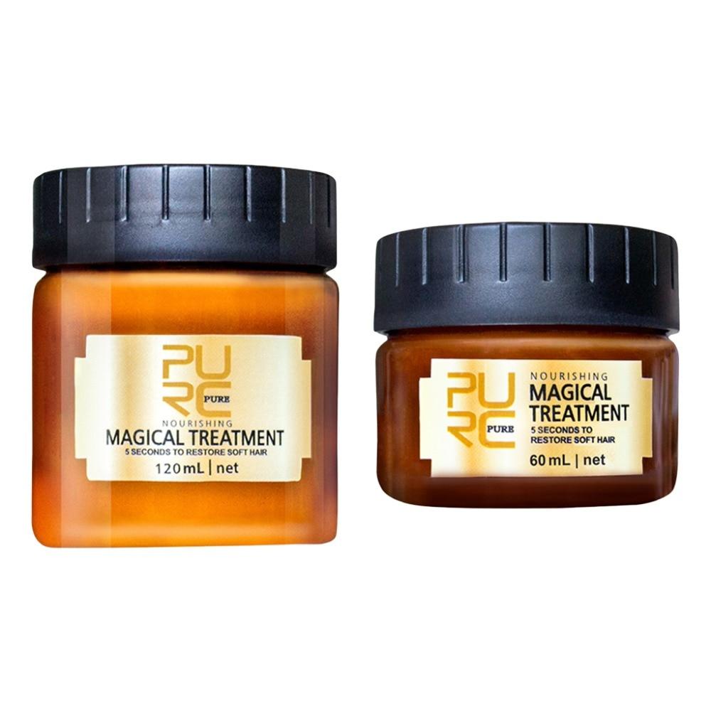 PURC arganöl Magische Haar Maske Reparaturen Schäden Wiederherstellung Weiche Keratin Haar Kopfhaut Treatmen 120 ml