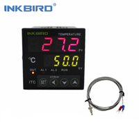 Inkbird Digital PID Temperature Controller on/off Thermostat Ac 100 240V ITC 100RH with K Sensor Thermocouple For home brewing
