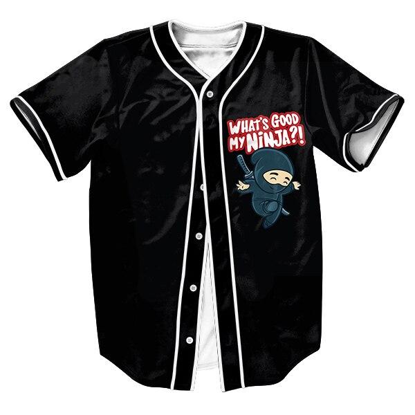 eed4cfac17a Мой ниндзя Джерси Для мужчин рубашки overshirt Свитшот 3D принт Забавные  топы с Однобортный летний Стиль Верхняя одежда футболки