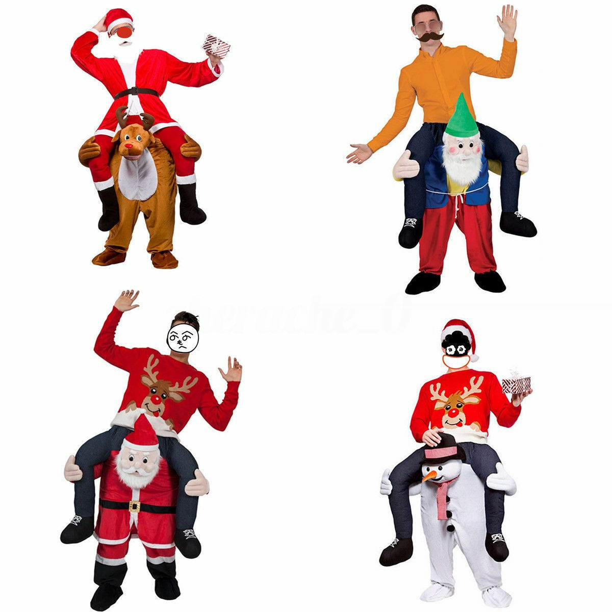 Porter moi monter sur bonhomme de neige nain mascotte Costume Cosplay fête jeu tenues vêtements publicité carnaval noël Festival adulte