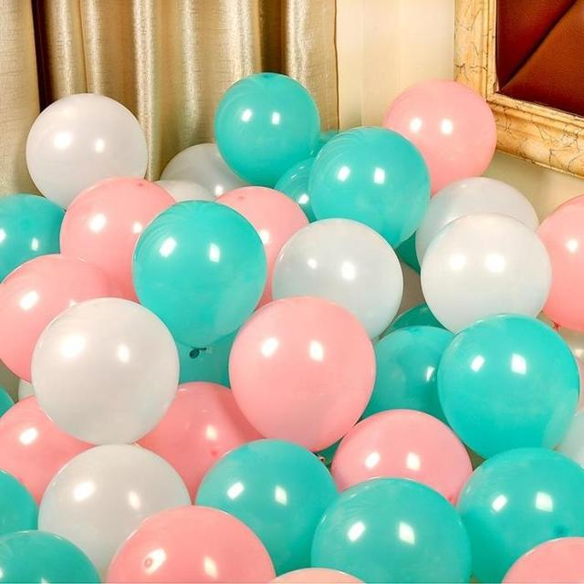 20pcs Lot 12inch Light Pink Tiffany Blue Peach Color Pearl Latex Balloon Birthday Party Decorations Kids Helium Air Balloons