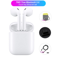CASPTM i12 Mini TWS Bluetooth 5.0 Touch Earphone 3D Stereo Headset True Wireless Earbuds For iPhone For Samsung