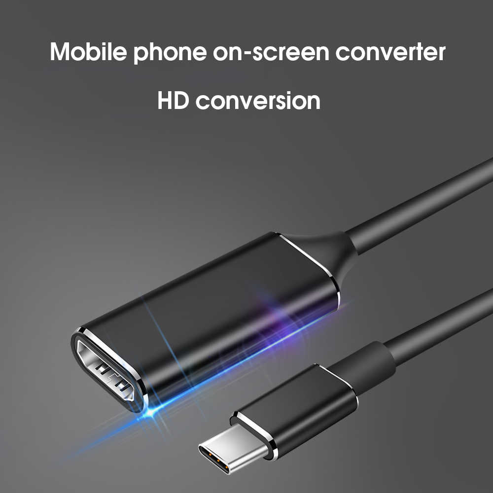 KEBIDU usb type c to hdmi cable adapter 4k 30hz USB 3.1 to HDMI Adapter Male to Female Converter for PC Computer TV Display Ph