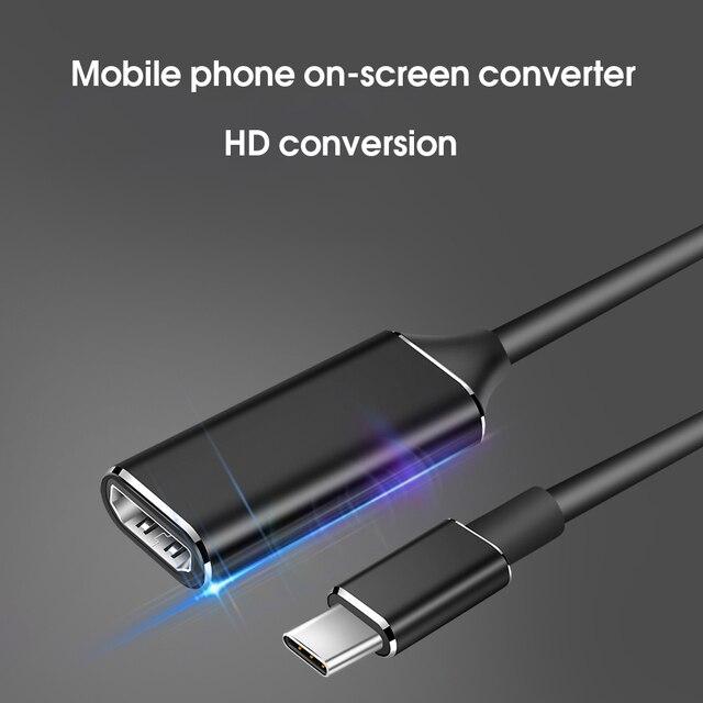 KEBIDU usb tipo c a hdmi cable adaptador 4k 30hz USB 3,1 a HDMI Adaptador convertidor de macho a hembra para PC ordenador TV pantalla Ph