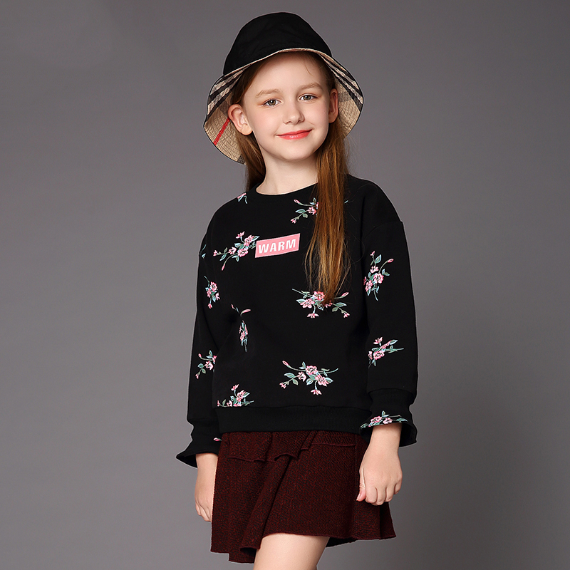 Childrens wear girls clothing new style childrens girls large print jacket loose clothing trendChildrens wear girls clothing new style childrens girls large print jacket loose clothing trend