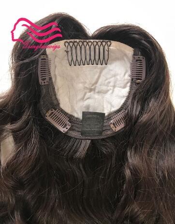 GüNstig Einkaufen Feinstem Europäischen Reines Haar Kosher Haar Topper Nicht Perücke Unverarbeitete Jüdische Haar Kippa Herbst Topper Kostenloser Versand SpäTester Style-Online-Verkauf Von 2019 50% Haarteile & Topper