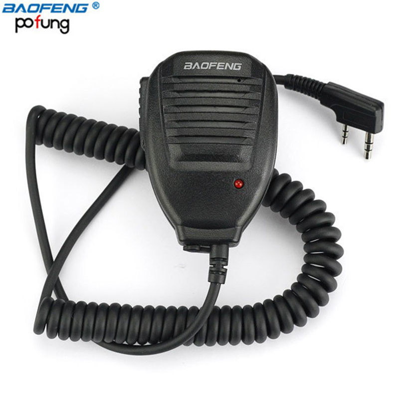 BAOFENG BF-26 Speaker Mic Microphone for Baofeng Portable Two Way Radio UV-5R UV-5RE BF-888S UV-B6 GT-3 Walkie Talkie