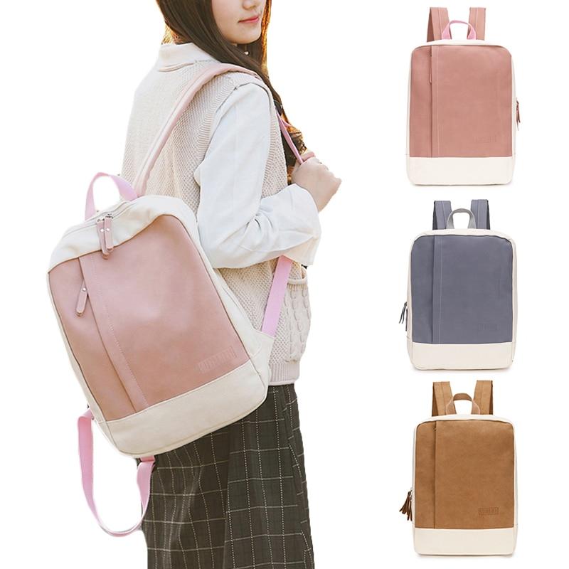 Fashion Canvas Women Backpack Female School Teenagers Girls Stylish Shoulder Bag Fabric Backpack Female Bookbag Mochila 2019 New