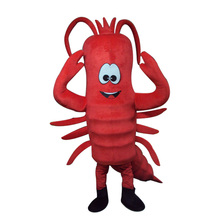 Red Lobster Mascot Costume Langouste Crayfish Cartoon Advertising Performance Outfit Fancy Dress Adult Size Mascot