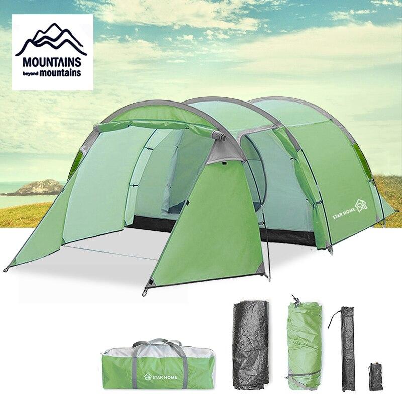 STAR HOME 3 personnes tente extérieure tunnel tente escalade camping 1 pièce 1 hall tente quatre saisons tente