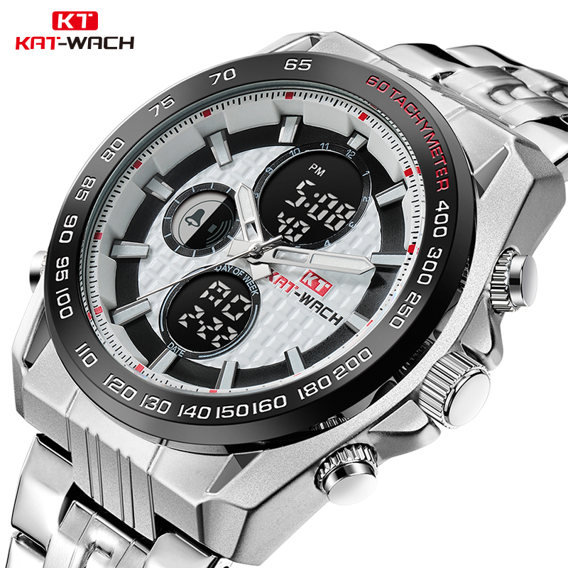KAT-WACH Original Brand Watch Men Automatic Self-wind Stainless Steel 5atm Waterproof Business Men Wrist Watch Timepieces