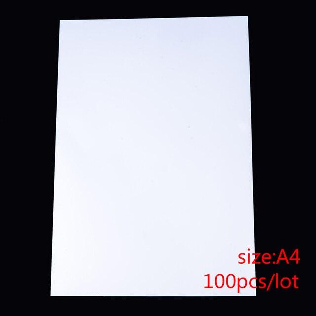 100 יח\חבילה A4 גודל מיוחד UV צללים הדפסת נייר להכנת תמונה זכוכית קרושון תכשיטים