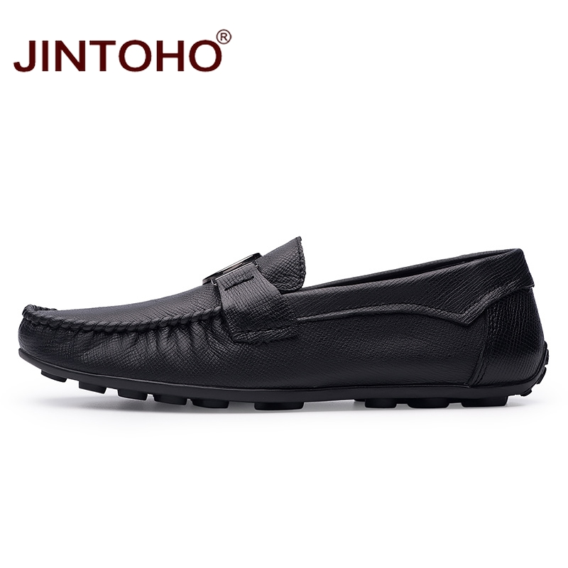 JINTOHO Brand Men Shoes Fashion Designer Men Leather Shoes Casual Male Shoes Slip On Mens Leather Loafers Men Moccasins-in Men's Casual Shoes from Shoes    3