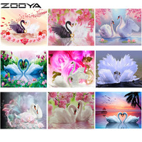 ZOOYA Diamond Mosaic 5D DIY Diamond Embroidery Cross Stitch Kits Pictures By Numbers Wall Stickers Two